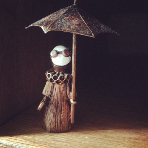 Something cute. One of my favorite little steam punk poppets. #photoaday #day25 #lisasnellings #poppets (Taken with Instagram)