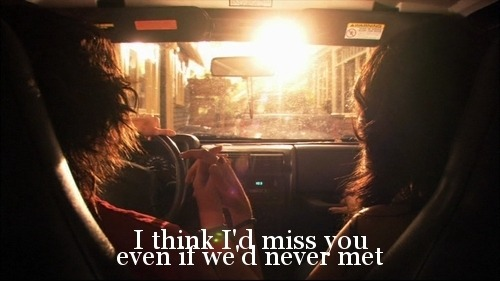 lovequotespics:  I think I'd miss you even if we'd never met. Found on: weheartit.com