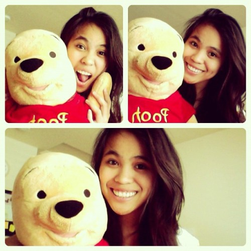 With my ❤ 😁😘😍 I love my pooh bear #pooh #disney #88 #me #instagood #maself #webstagram #aku #winniethepooh #instalove #igdaily #instamood #smile #instahappy #iphoneonly #igers (Taken with Instagram)