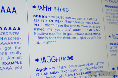 'Sound-Word Index' can help you express your emotions onlinetheverge.com Using text to com­mu­ni­cate online can make it dif­fi­cult to express the kind of nuance and emo­tion that we're used to in our face to face inter­ac­tions. In response, Royal Col­lege of Art grad­u­ates Blanche de Lasa and Stina Gro­mark are…
