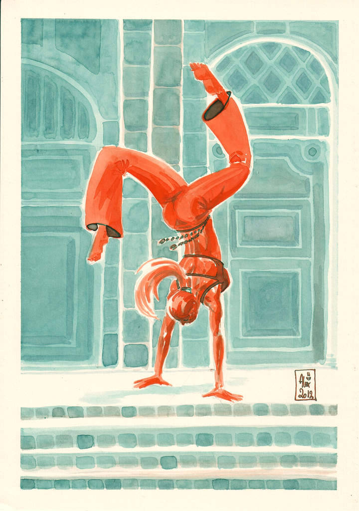 alex-illustrateur:  Capoeira 28