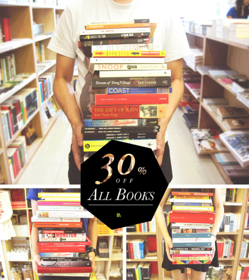booksactually:  30% SALE ON ALL BOOKS TOMORROW (27th June) !!