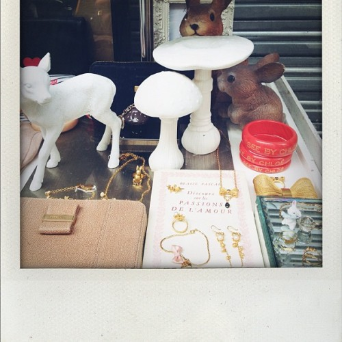 Shop window in the Marais (Taken with Instagram)