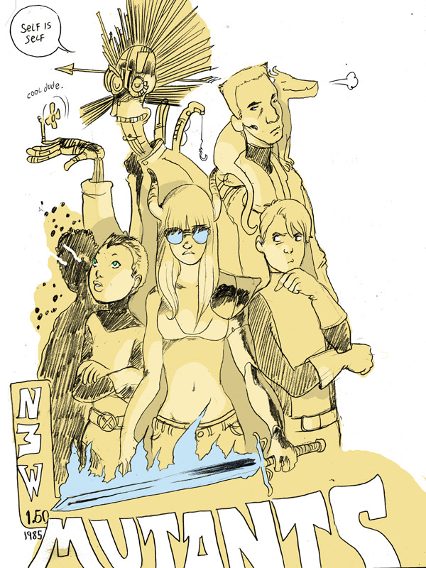 psychosulfur:  New Mutants, by Brandon Graham.  Why can't I live in the Brandon Graham does every comic world? /whine