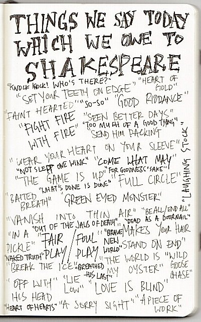 imbraveheart:  We owe a lot to Shakespeare for the things we say today