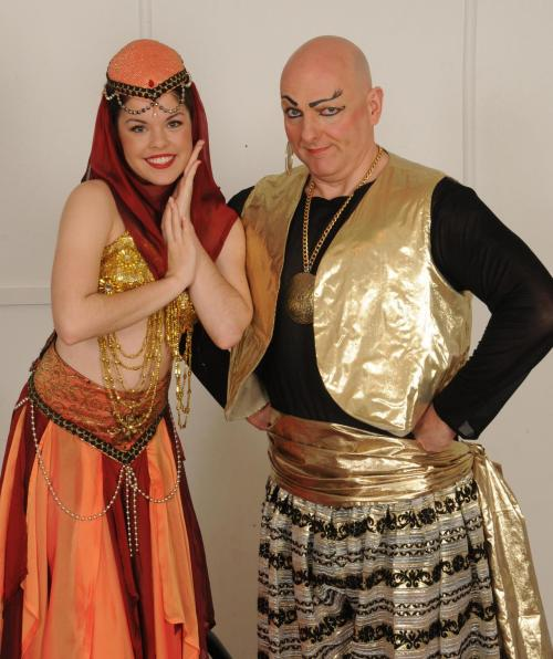 Myself and Martin Jennings as Princess Jade and Genie in Aladdin and His Magical Lamp! Gotta love panto ;)