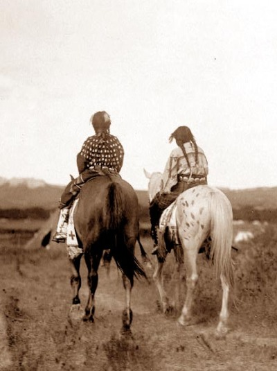 Sioux girls in horseback. And this is beautiful.