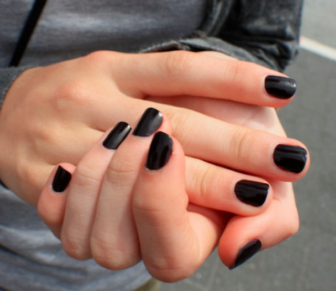 have an obsession with dark nails