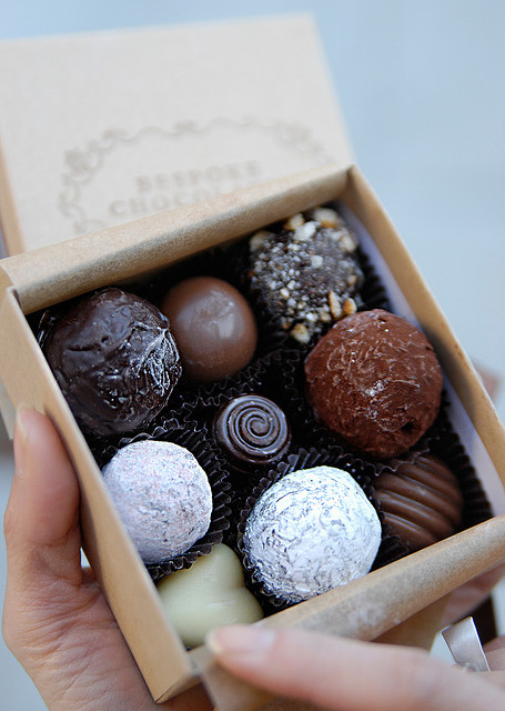 clottedcreamscone:  Bespoke Chocolates by psychopooch on Flickr.