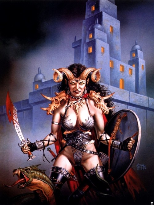 The Coming of Sorrows Artist: Clyde Caldwell
