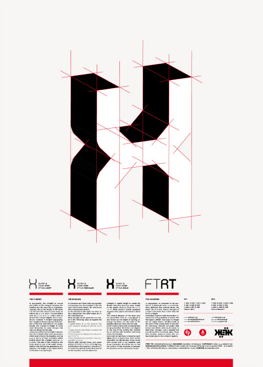 FTRT George Strouzas from KEIK just published FTRT (MS: Monospace) typeface on Behance.   The FTRT (MS: Monospace) typeface has been designed exclusively in order to help in the designing process of experimental logos and titles in posters and flyers.   Great work!