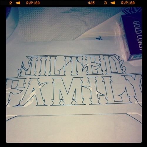 Just did some edit on this font. #jiltedroyalty (Taken with Instagram)
