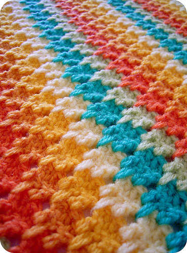 Larksfoot crochet stitch by sarah london textiles Beautiful right?  Wow.