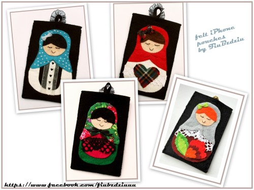 fuckyeahmatryoshka:  felt iPhone pouches by FiuBzdziu