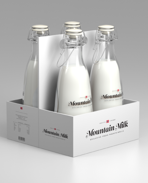 artpixie:  (via Tine Melk - Mountain Milk on the Behance Network)