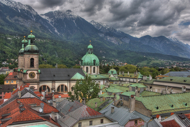 travelingcolors:  Cloudy Innsbruck | Austria (by zoltaan)