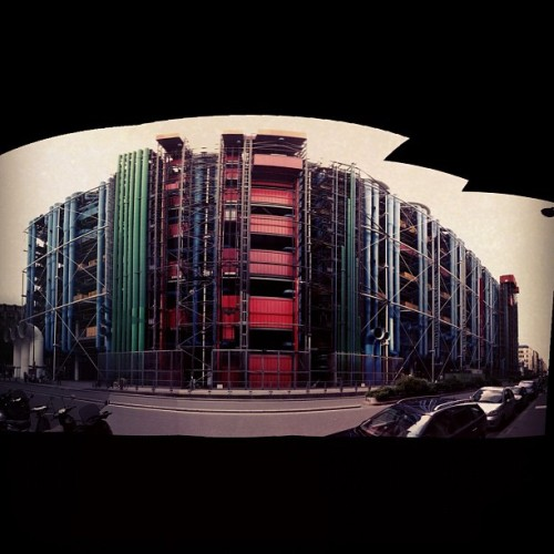 Centre Pompidou from the back (Taken with Instagram at Centre Pompidou (CNAC))