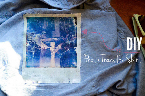 (via Stars for Streetlights: DIY Anthropologie-Inspired Photo Transfer Polaroid Shirt with Mod Podge)