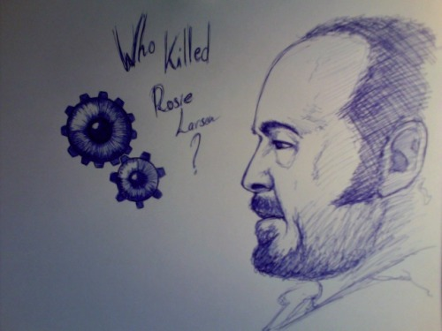 Who killed Rosie Larsen? The Killing [Boli BIC en papel tamaño A4] [Ballpoint-pen on A4 paper]