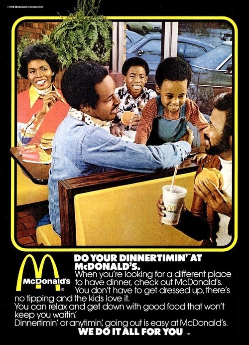 Classic MacDonald's advert.