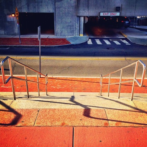 Empty stairs with shadows (Taken with Instagram at 1 Station Place)