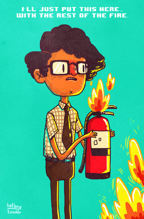 Fire Exclamation Mark by Vaughn Pinpin [tumblr | store] Context: [video]