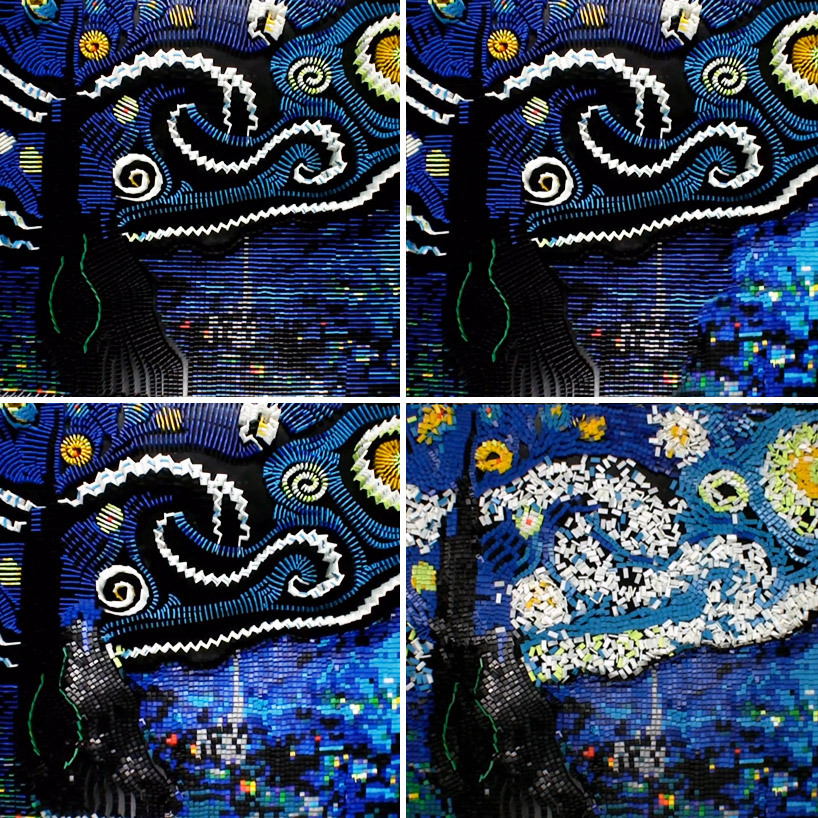ianbrooks:  Starry Night in Dominoes by Flippy Cat It took 7,067 dominoes, 11 hours, and a failed first attempt to recreate Van Gogh's Starry Night in a sea of cascading dominoes. Check out a video of the entire process below and then ask yourself what *you* accomplished in 11 hours:   Artist: website (via: neatorama / designboom)