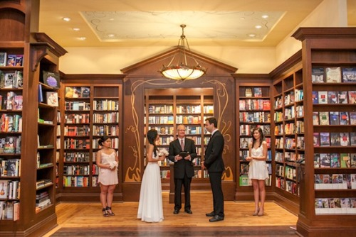 A bookstore wedding at Ben McNally Books in Toronto.