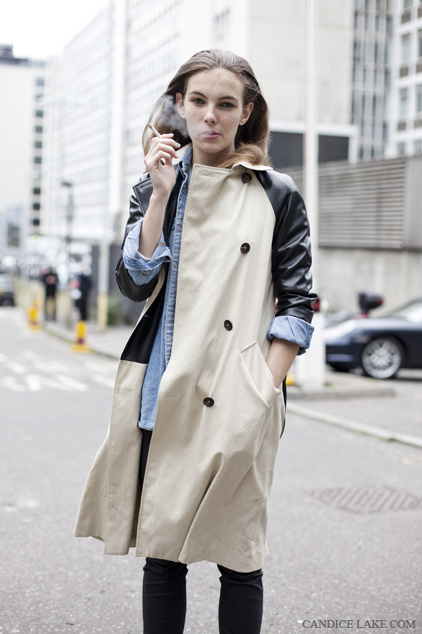 Dreaming of Summer | Style profile.    Trench + Leather + Demin = Such an amazing laid back combination.