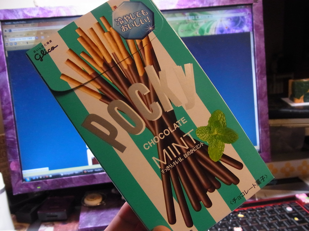 Have you ever seen or tried Choco-mint Pocky? It's NEW! Yay;)