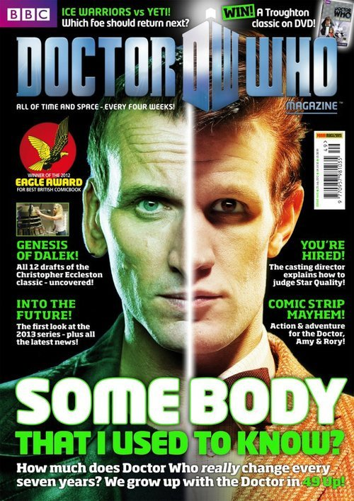 theshockingdifference:  doctorwho:  The cover of Doctor Who Magazine #449  Omg. So good to see Chris again!!!
