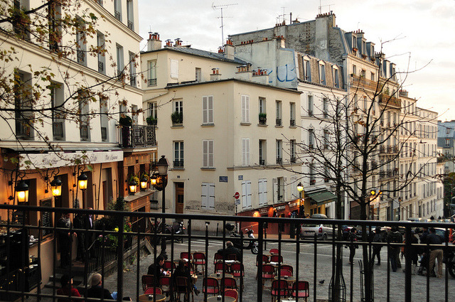 | ♕ |  Montmartre at dusk  | by © Laura Gilchrist | via ysvoice