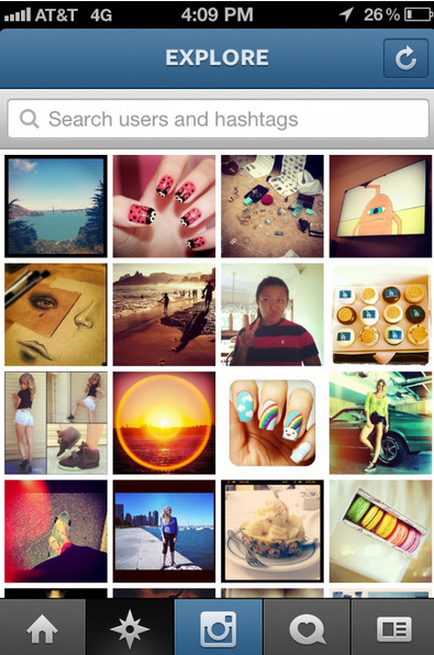 "Instagram Unleashes New ""Explore"" Tab In Version 2.5"