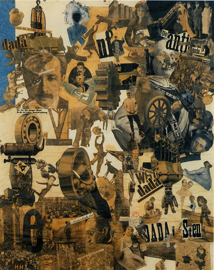 Hannah Höch - Cut with the Dada Kitchen Knife through the Last Weimar Beer-Belly Cultural Epoch in Germany, 1919. collage of pasted papers