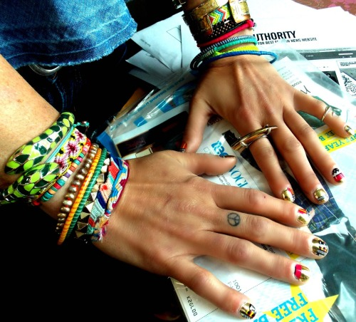 Kyle found these sick mirrored and tribal nail stickers! HOW AWESOME!!!!!