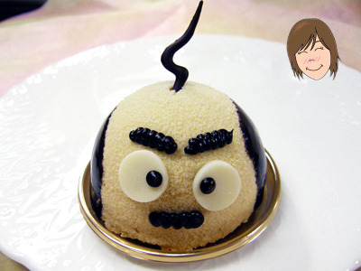 Papa Cake This stubborn looking pops was only sold only during Father's Day in Japan. Love the single strand of hair!
