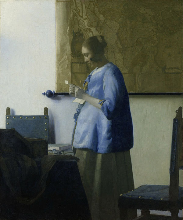 "Lines & Colors :Vermeer's ""Woman in Blue Reading a Letter"" restored"