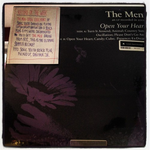 Record of the week: The Men - Open Your Heart (Taken with Instagram)