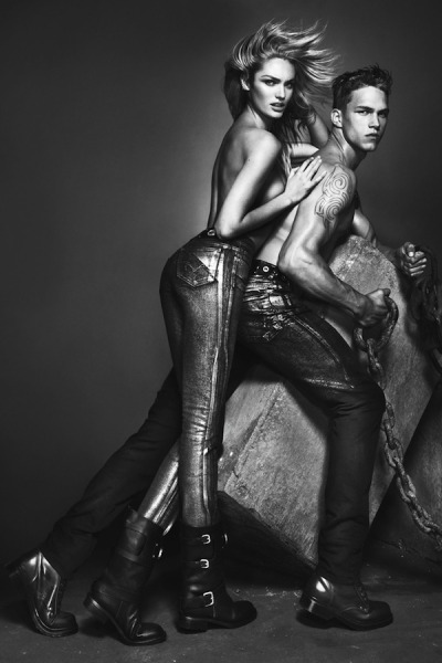 Candice Swanepoel by Mert & Marcus for Versace Jeans, Fall 2012 Ad Campaign