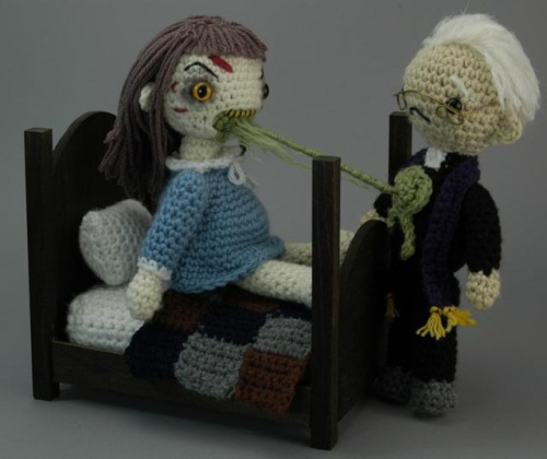vonfancypants:  The Exorcist crocheted playset - Croshame  This is the most beautiful thing