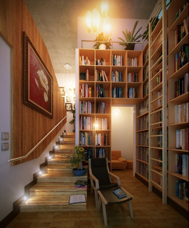 Hall home library