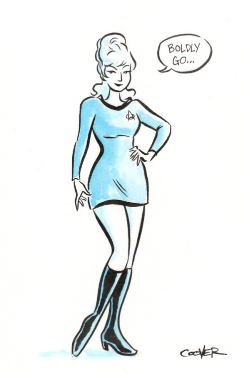 Commissioned at Heroescon 2012, Charlotte NC | by Colleen Coover  {via classictrek}