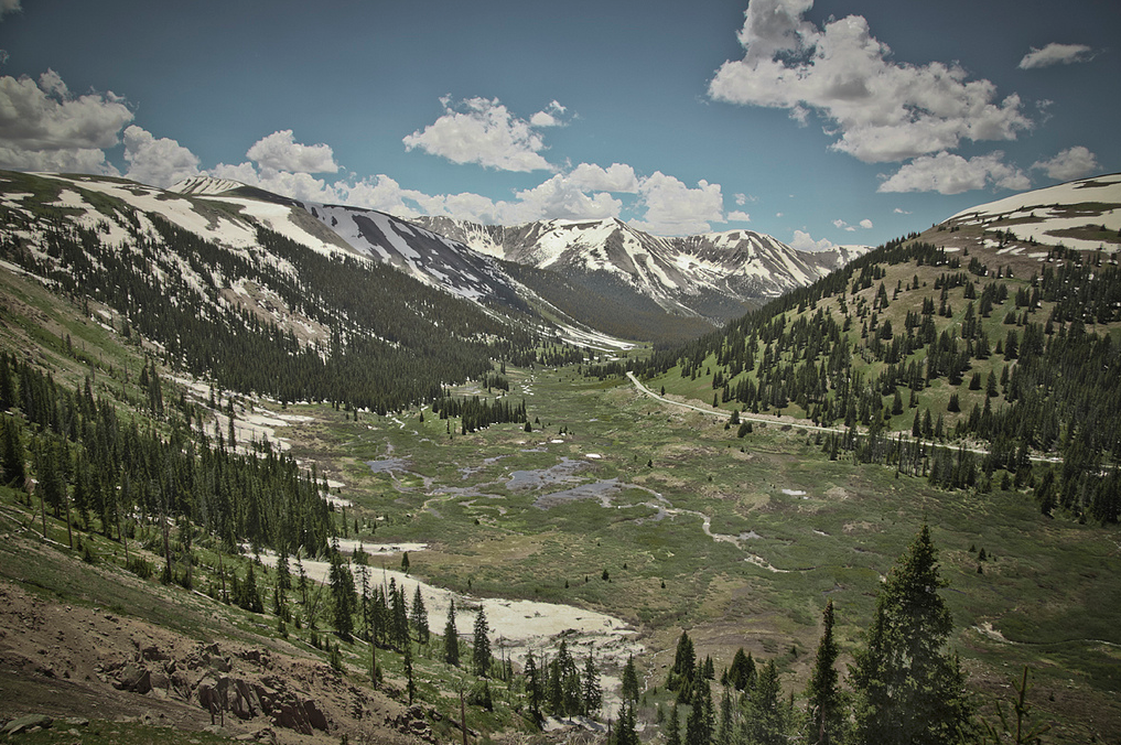 mpdrolet:  Near Independence Pass, Colorado, Summer 2011—nearly 35 years after Nick DeWolf's shot (see previous post), from virtually the same spot. *more Colorado photographs here Mark Peter Drolet