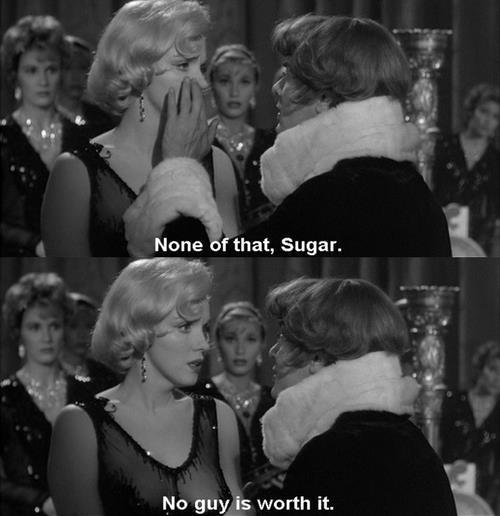 "shazza-tntgirl:  Marilyn and Tony in ""Some Like it Hot"""