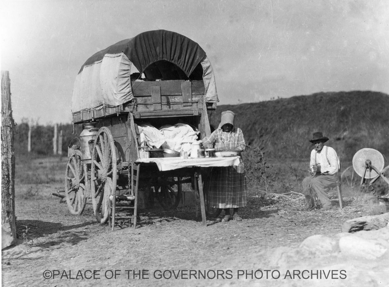 pogphotoarchives:  Pioneer Wagon New Mexico - ca 1935 Photo By: T. Harmon Parkhurst Negative #008191
