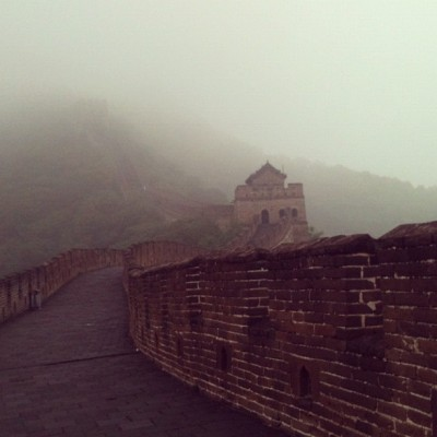 Bad weather, but still… (Taken with Instagram at The Great Wall of China)