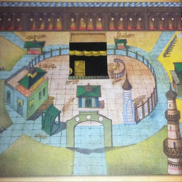 poeticislam:  Drawing of the Masjid al Haram in the Islamic Arts Museum, Malaysia.