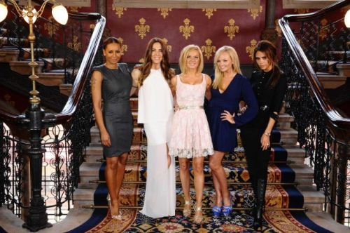 That is all five Spice Girls, in one place, together, launching a new musical about them.  All five Spice Girls.  Together.  In one place. Yes, you have reached the end of the Internet.  Nothing left to see.  Can't possibly top this.  You can call and cancel Time Warner now and go play outside.