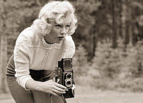 Behind the camera… Marilyn Monroe