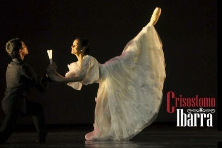 "Ballet Philippines' Crisostomo Ibarra: A Dance of Characters (An IndioHistorian Review)The lights dimmed at the theater. The live music began playing and then a black figure emerges from the bare stage with just a few seats lined up at the center. The figure is a man in black coat and hat. He sits, removes the cap on his head. He moves his arms in a wave-like motion together with the playing cello, violin, bassoon and piano. And then he dances as he tells the story. This was after all Ballet Philippines' Crisostomo Ibarra. I have to tell you a historian's secret. I watched it twice.The last salvo of Ballet Philippines' Crisostomo Ibarra last Sunday at the Cultural Center of the Philippines was finally over. A fresh take on the novel Noli Me Tangere, the show was perhaps greater than what it was given credit for. Noli Me Tangere, together with El Filibusterismo, the two seminal novels of the Filipino thinker and national hero Jose Rizal, were catalysts of a grassroot revolution in the Philippines in 1896—what was to be the first national-in-scale revolutionary movement in Asia against a colonial power. Such novels that change the terrain of history and pave the way for a nation to be born are definitely in the same league as that of Victor Hugo, Harriet Beecher Stowe, and Dante. There have been many renditions of the Noli, from films to musicals to pay tribute to the hero and to his lasting legacy. But what Ballet Philippines did was daring, reinterpreting Noli's narrative with fresh new eyes through ballet.I watched together with my family, as the first homecoming performance of Candice Adea and JM Cordero, highly-acclaimed ballet dancers since their winning performance at Helsinki, performed their roles as Maria Clara and Crisostomo Ibarra. (In case you don't know, Candice Adea won 1st place at the Senior's Women Division at the recently conducted Helsinki International Ballet Competition 2012, the olympics of ballet as many call it. Lisa Macuja just achieved silver during her time.). What a fitting end to the year-long celebration of Rizal's Sesquicentennial! Accompanied by musicians from the Philippine Philharmonic Orchestra, the show was spectacular from beginning to end. The whole ballet performance was divided into 8 scenes. Before each scene was a flash on the screen of a single Filipino word, and a short description of the story. When Paul Morales, Libretto and Choreographer of the show, said that they were going to tell the story through dance, I thought I knew what that was all about. When I saw it myself, I was speechless. There were scenes that really welled my eyes with tears… facial expressions, the graceful moves of Maria Clara, the confused expression and dance that depict the psychological turmoil of Crisostomo Ibarra. What made it tinge the heart was scene 7, entitled ""Halik"" (The Kiss), when Ibarra, on the run from the guardia sibil visits Maria Clara at night for the last time, where Maria Clara tells him of her real father and her betrayal of her love. The forgiveness of Ibarra, the kiss, and their forced parting, the music and the dance, were just so full. After that scene, you could hear sniffs and see tears from the audience. My mom, who never attended a ballet show until that Sunday, was also in tears. There is something about the story through dance and the emotion it brings that transcends, despite having no dialogues in the said performance. Perhaps that's what's so special about this rendition of Noli. We have become so used to loads of words from some inaccurate translations of Noli and Fili textbooks that we forget that these characters, in their very predicament and reaction in the story, are closer to us than we think. I was filled with pity for Sisa… for Crisostomo, and for Maria Clara. I realized that these raw human experiences of Filipinos in the late 19th century was what sparked the Revolution that began the birth pains of the Philippines. The performance was indeed a masterpiece.  However, unknown to everyone, these dancers would hav put their financial lifeline on the line if need be, even without government support, just so that they could compete in the international arena and give honor to our country. Yes, that's the real story behind our ballet dancers in a country of novelty noon-time TV shows. That is why watching our Filipino ballet dancers dance on stage is such a great privilege. Jed Balsamo, the man behind the wonderful music of the show, told us that the show may never be repeated again. I bought a soundtrack just in case.  I give the whole performance 5 out of 5 stars for a great show. Praying for a sequel. Simoun perhaps? *Photo above: BP's Earl John Arisola as Crisostomo and Katherine Trofeo as Maria Clara."